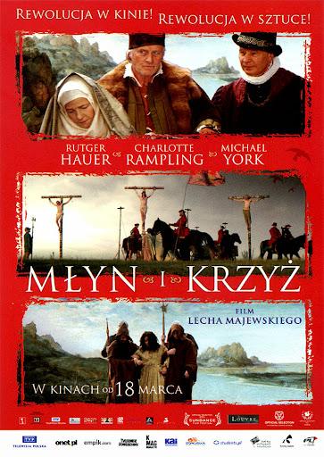 Przód ulotki filmu 'Młyn i Krzyż'