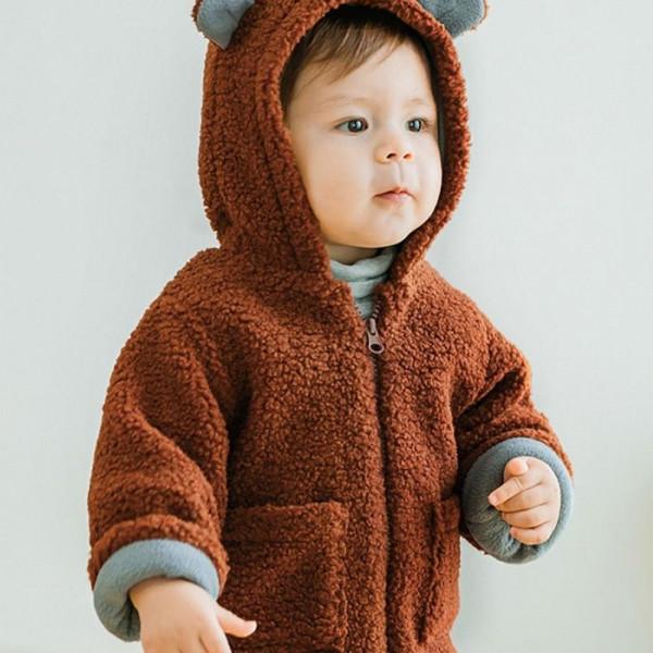 Baby Bear Hooded Fur coat