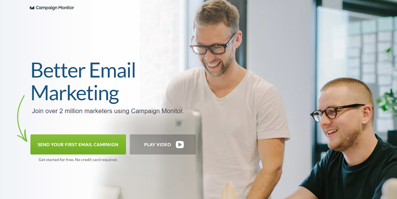 Campaign Monitor – Landing Page CTA Button
