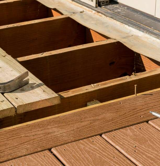 remove deck boards with hidden fasteners