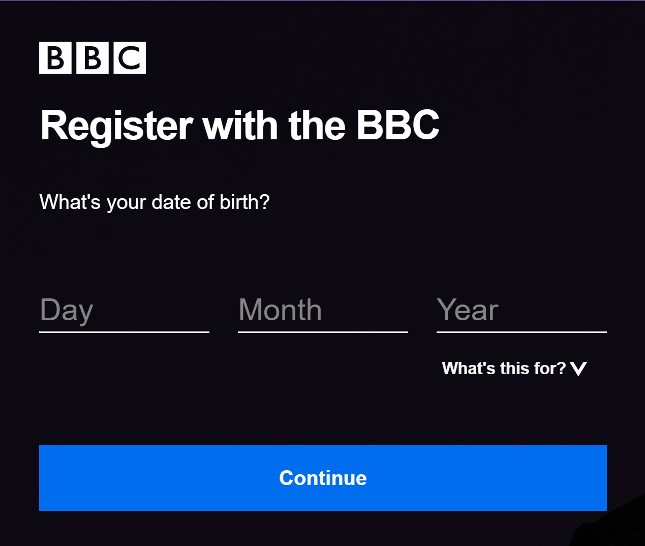 BBC iPlayer Signup