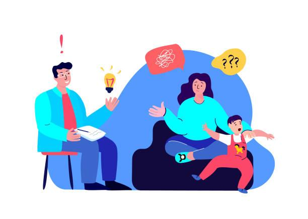 Mother and son visited a child psychologist