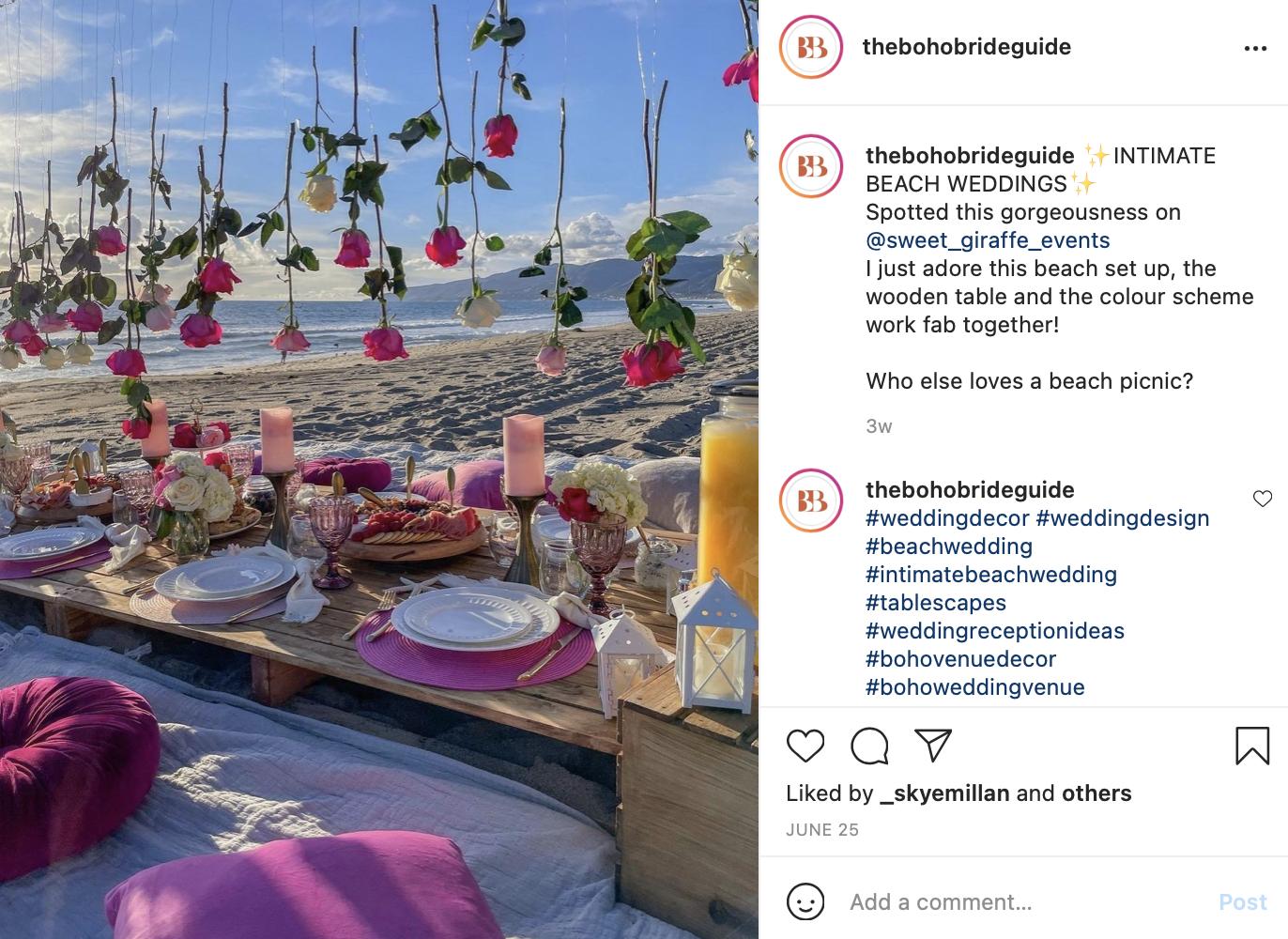 intimate micro wedding on the beach