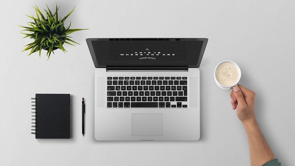 Laptop, Quebrar, Café, Tecnologia, Computador