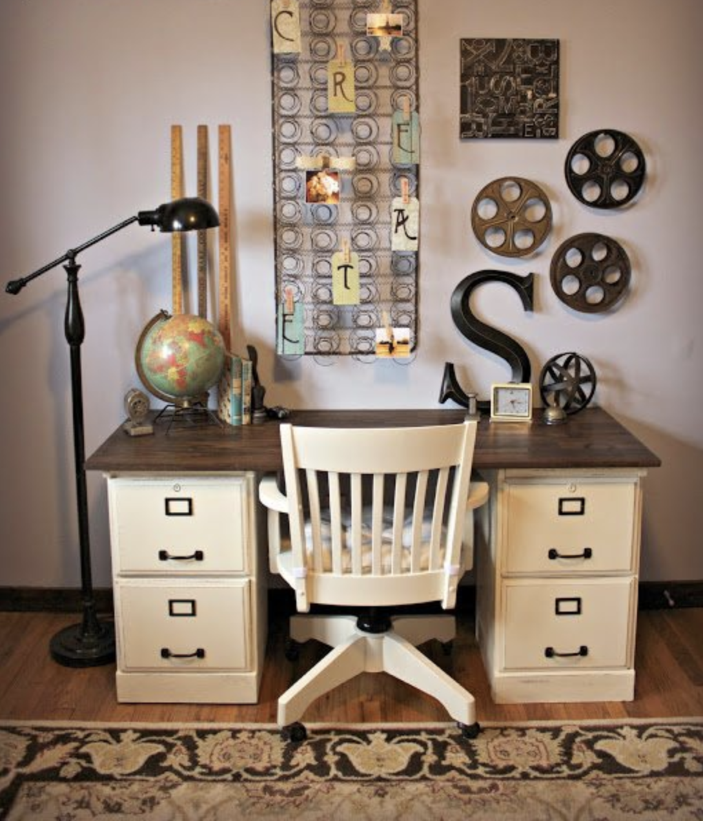 Thought about ways to use old office furniture? You can repurpose old office furniture into other amazing furniture transformations! Check out all the ideas, plus find out how to start upcycling furniture the easiest way possible. There's a guide plus a few other posts with incredible furniture makeovers to peruse which you decide what to do with your furniture. upcycling is also a great way to save money & be environmentally friendly! (No epoxy, no spray paint or VOC's please!) #furniture