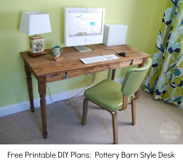 Planes de escritorio para computadora: plan de escritorio para bricolaje