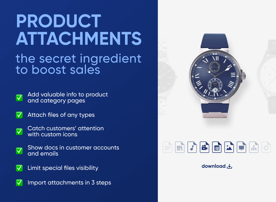 best Magento product attachments extension