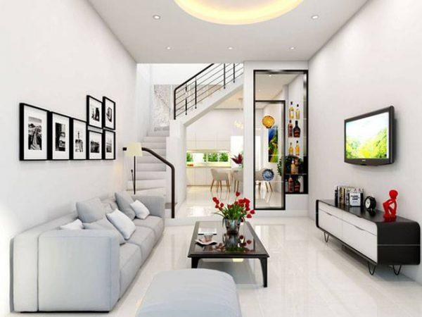 Nếu phòng khách đủ rộng, tiểu cảnh trong góc nhà là một ý tưởng không tệ.
