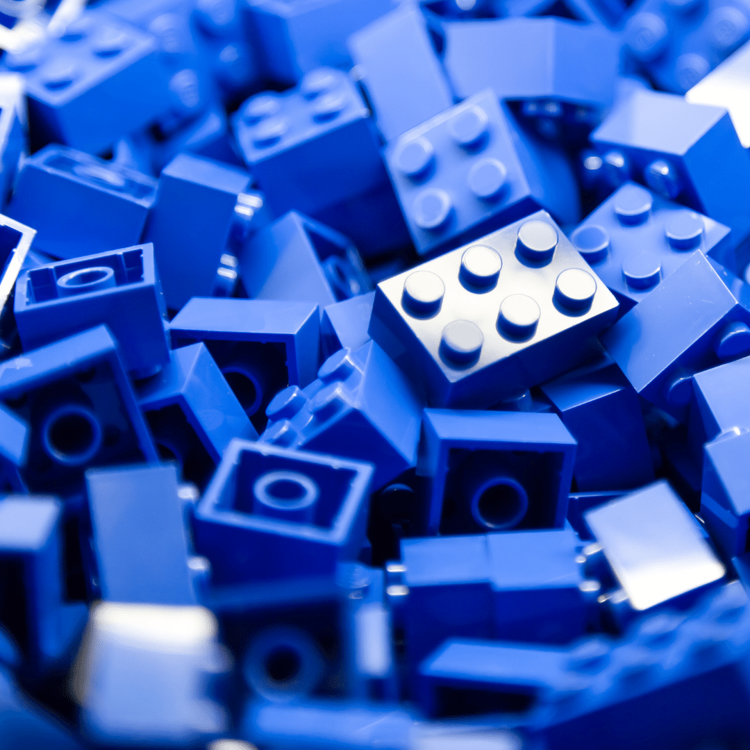 Lots of blue lego