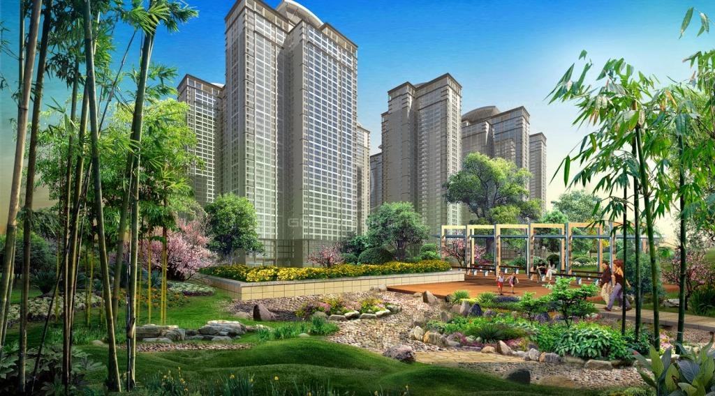 Hệ thống vườn hoa và cây xanh tại chung cư Goldmark City