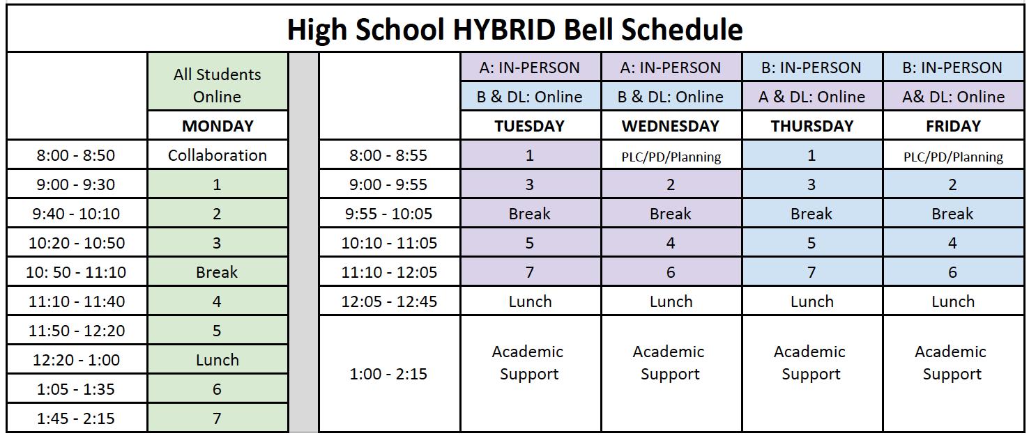 Hybrid schedule matrix