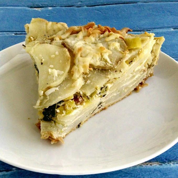 Potato Leek Pie – A #MeatlessMonday #StPatricksDay Recipe