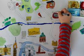 Draw a map of your city | Drawing for kids, Map crafts, Drawn map