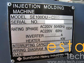 Sumitomo SE100DU-C250 (2007) All Electric Plastic Injection Moulding Machine