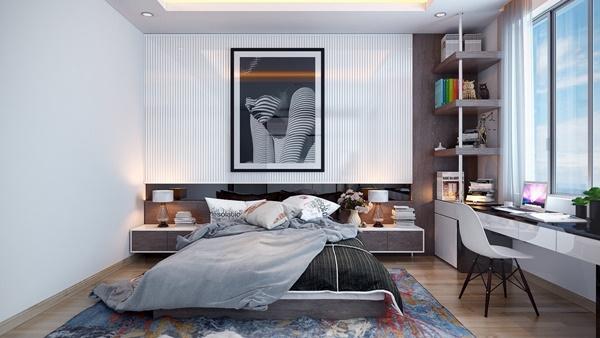 Phòng ngủ màu đen trắng 5