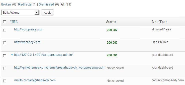 Dùng Plugin Broken Link Checker để tìm các liên kết bị gãy trong web