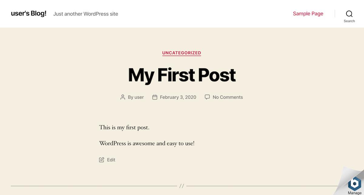 WordPress post publishing