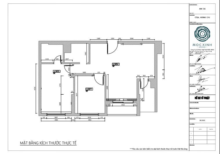 Mặt bằng thiết kế nội thất chung cư