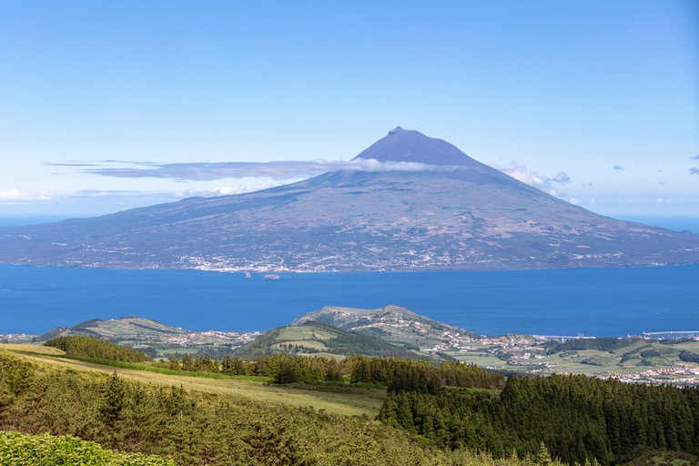 Mount Pico from Faial island, Azores, Portugal