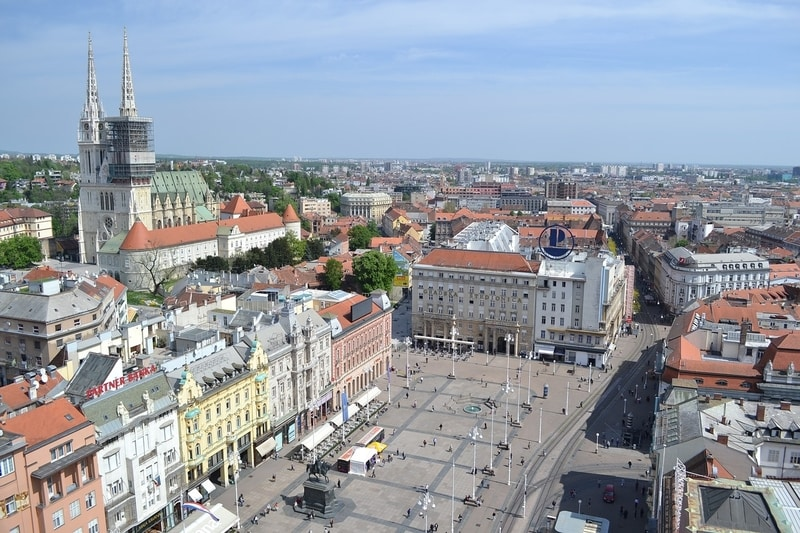 view from zagreb 360 observation deck