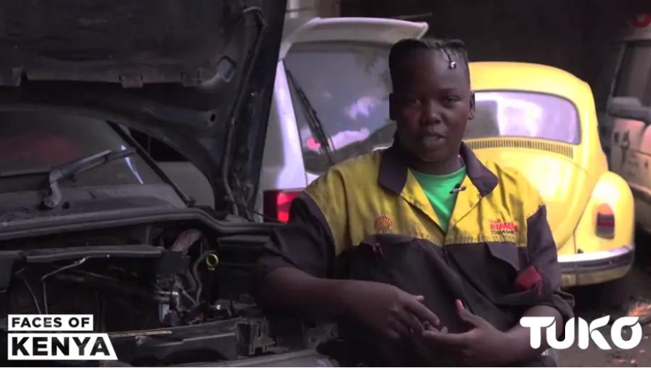 Impressive Story of Nairobi Housemaid who Became Mechanic