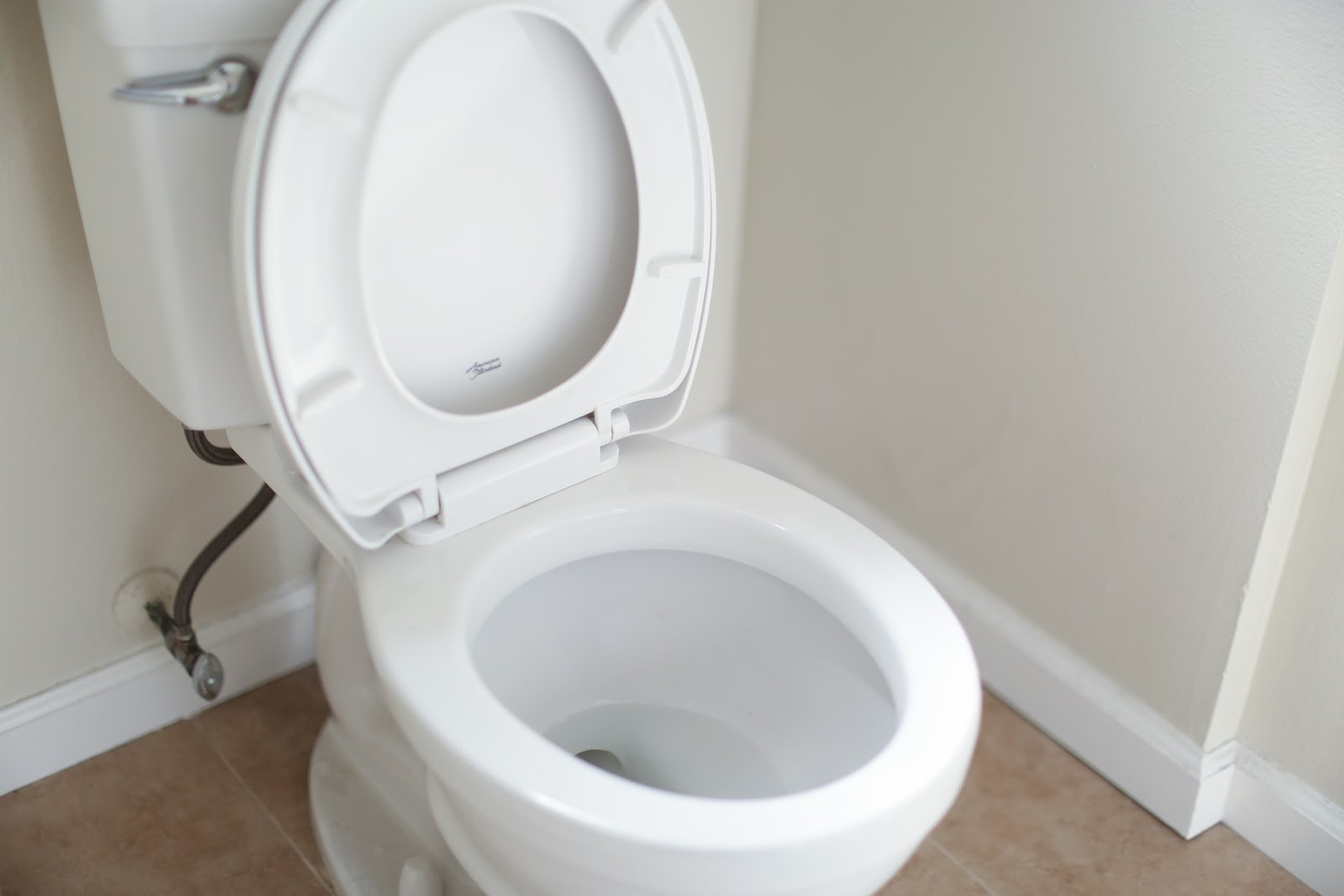 Um vaso sanitário aberto.