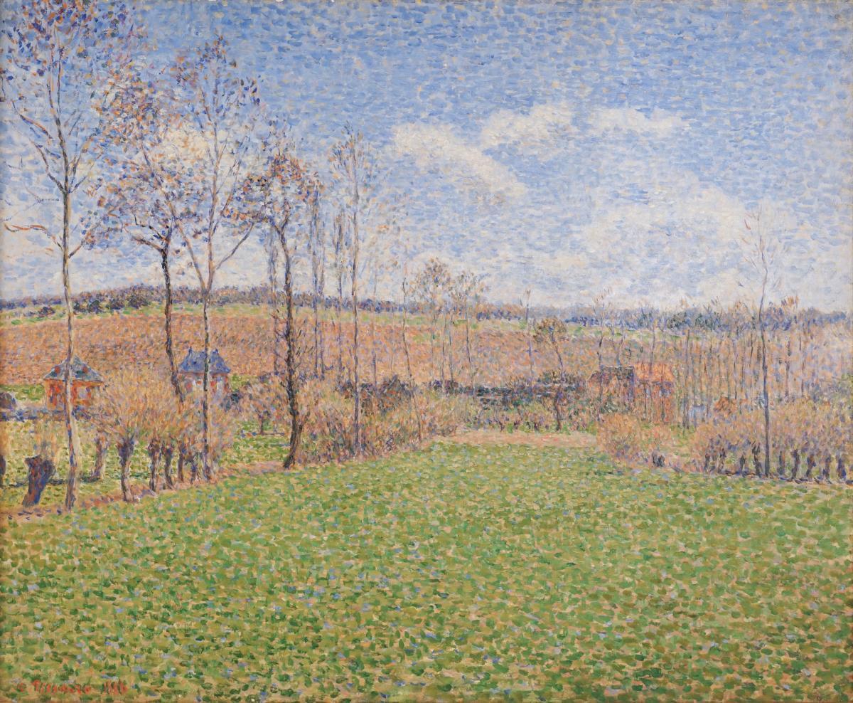 Camille Pissarro, Printemps à Éragny, 1886, huile sur toile, Memphis Brooks Museum of Art, Memphis