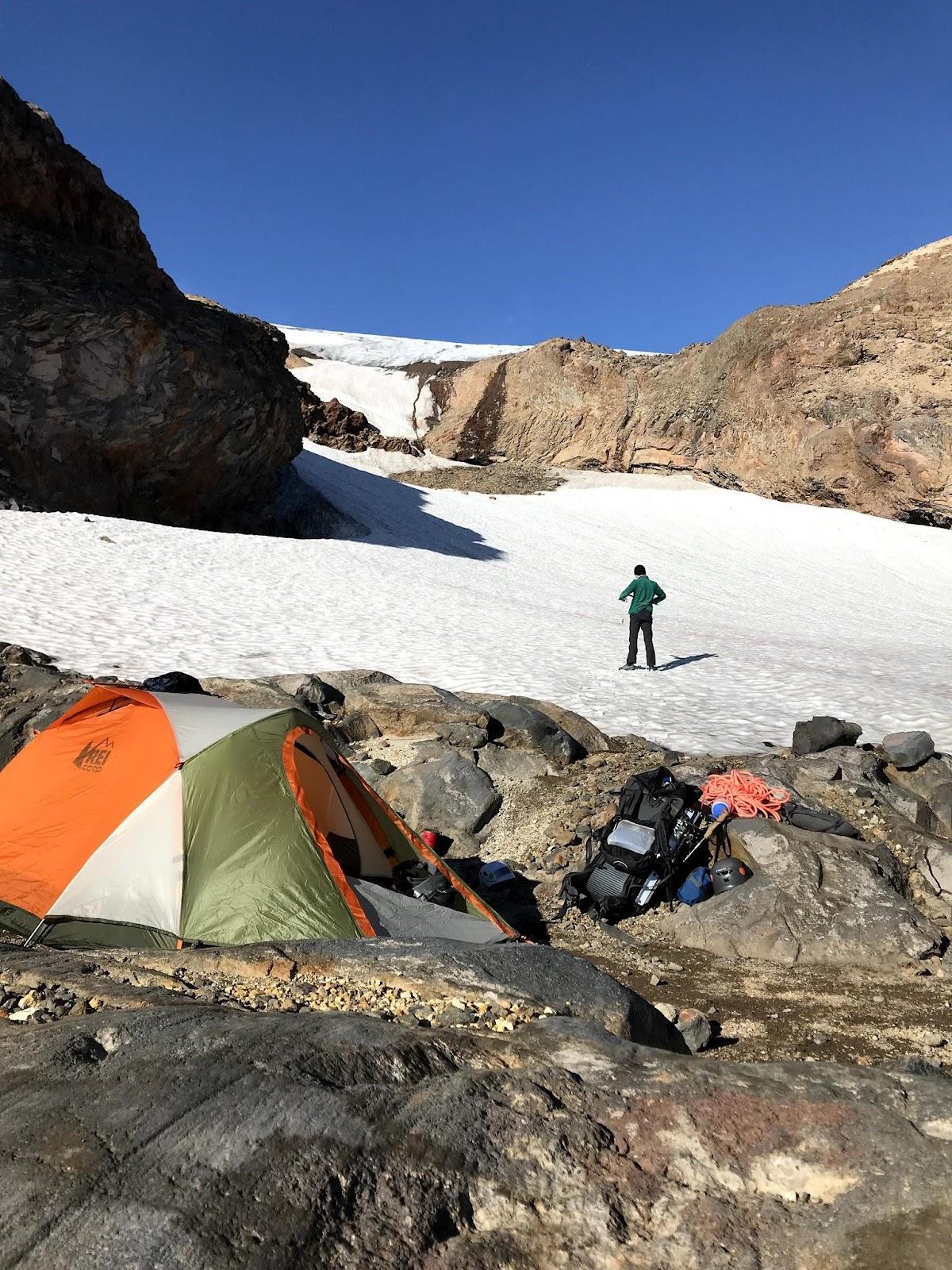 Camping at the portal