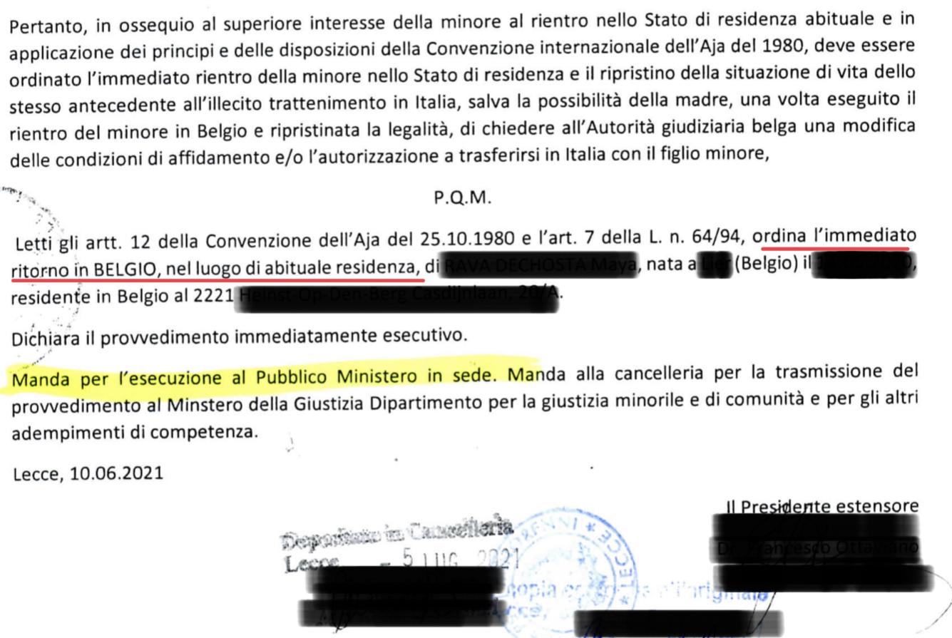 Documentazione tribunale per i minorenni di Lecce 3/3