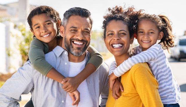 Happy family for best instagram posts for realtors