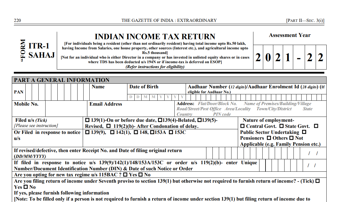 What is ITR 1 Form_2