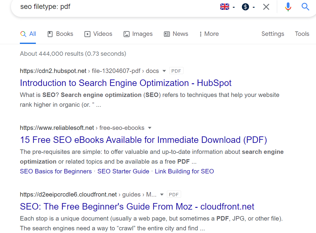 Filetype Search