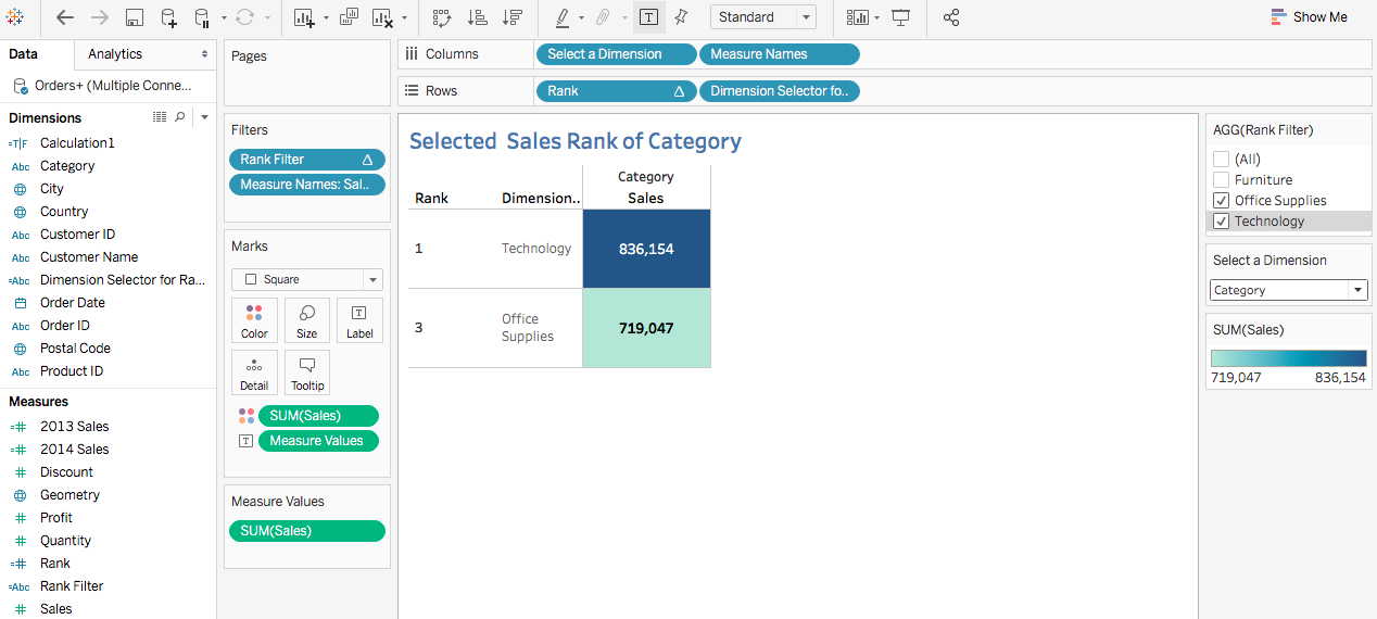 Filtering the Dimension But maintain the Rank per Sales 37