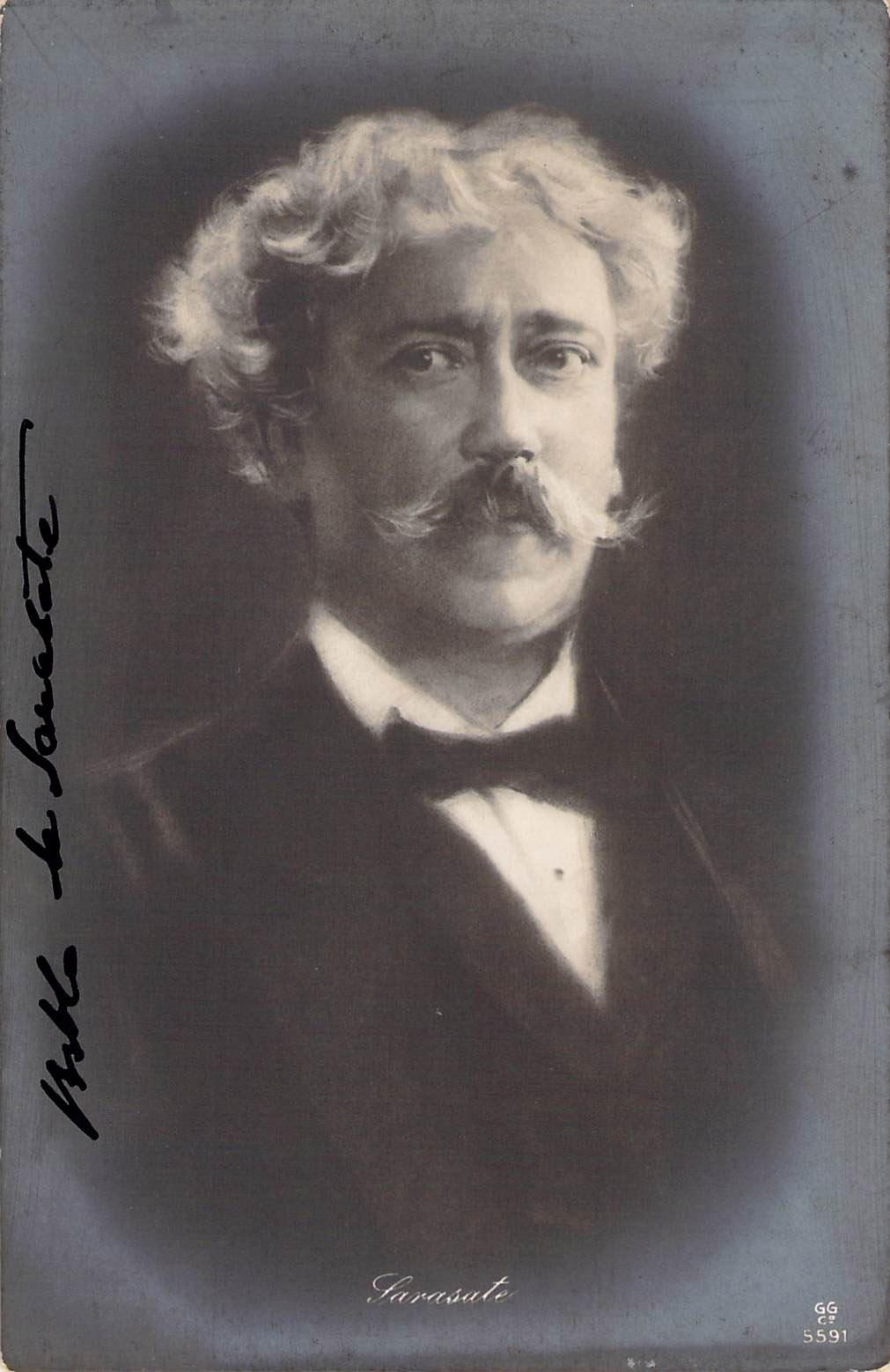 Pablo de Sarasate - signed photo