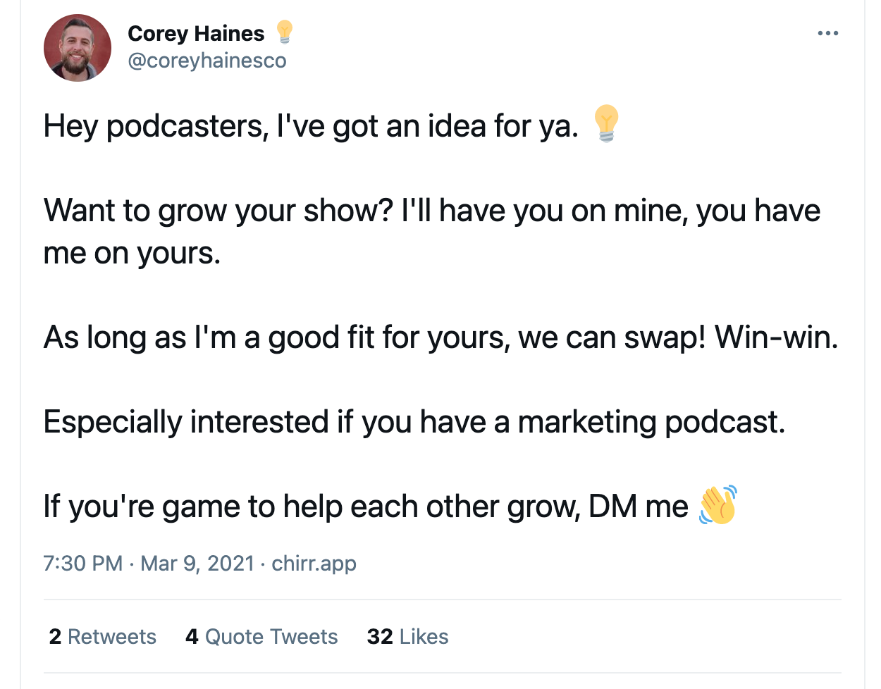podcast marketing podcast promotion on twitter
