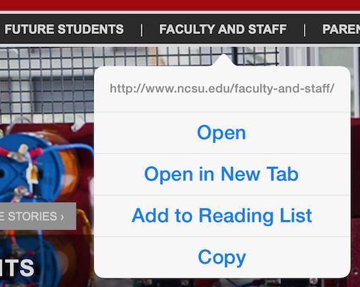 example of a legitimate NC State University URL