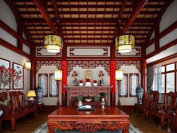Một chiếc bàn thờ rộng là lựa chọn đúng đắn cho căn nhà hộp to rộng
