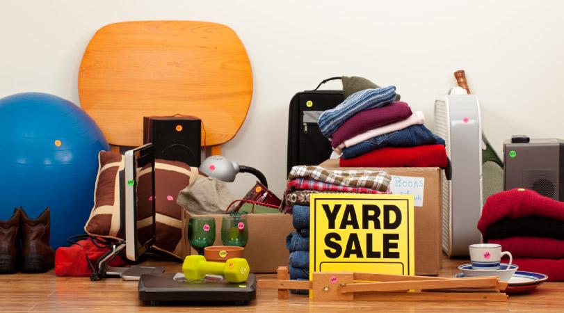 Getting rid of junk at a yard sale