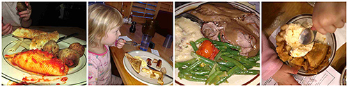 different meals at Pine Ridge Dude Ranch