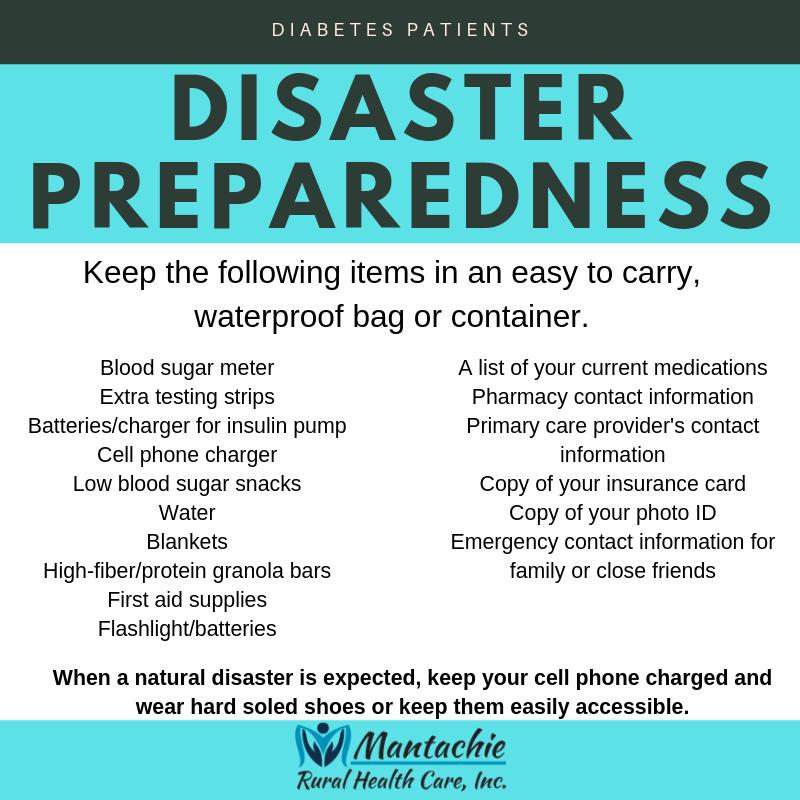 disaster preparedness for diabetes