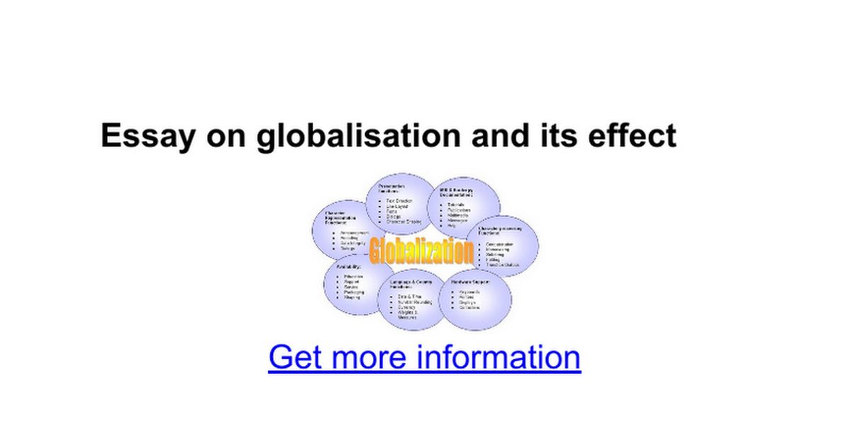 essay on globalisation and its effect google docs