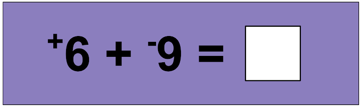 *Use the minus/subtraction sign with negative integer answers, like this...  -10