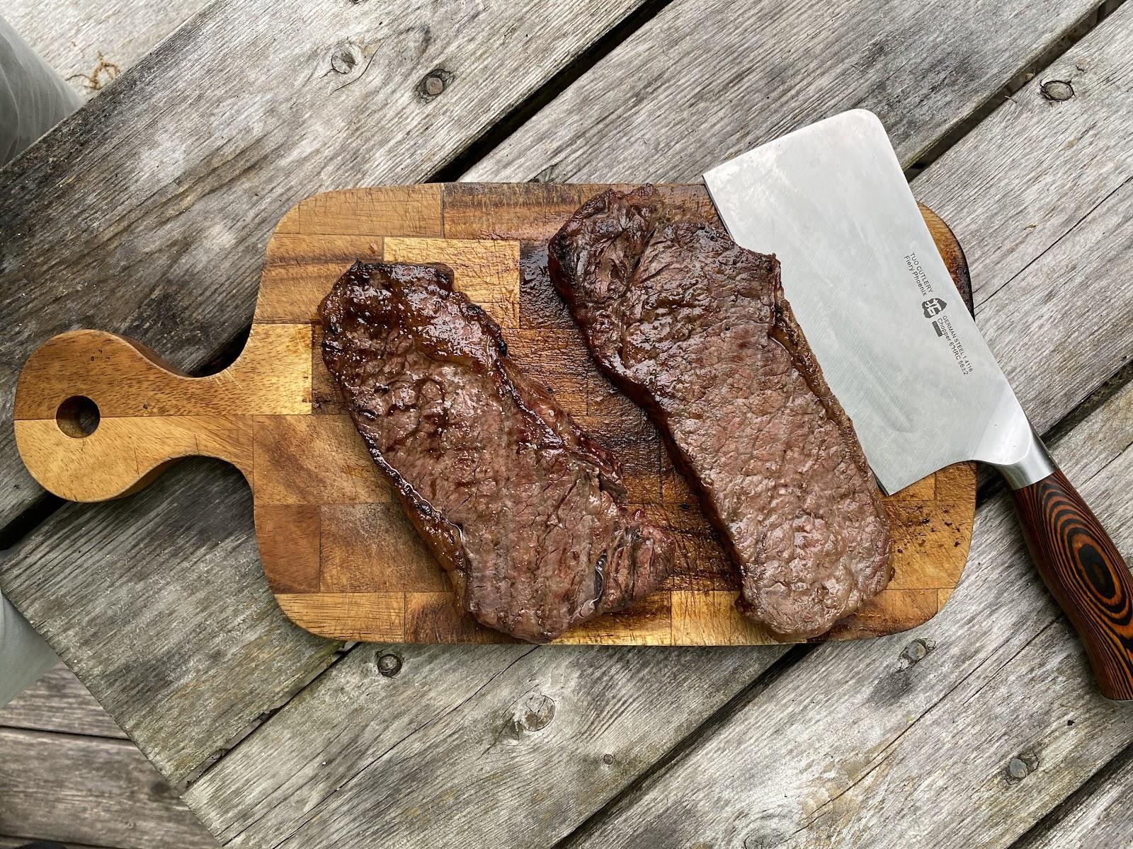 chopped of steaks