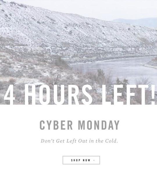 cyber monday create urgency