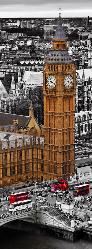 Big Ben, London Eye, Harry Potter, the royalties, red telephone booth and red buses: