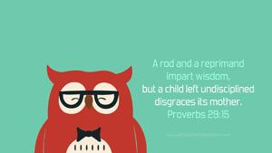 Bible Verses About Children Desktop Wallpaper Proverbs 29-15 Thumbnail