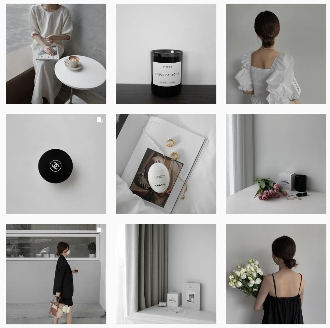 instagram minimalist theme example