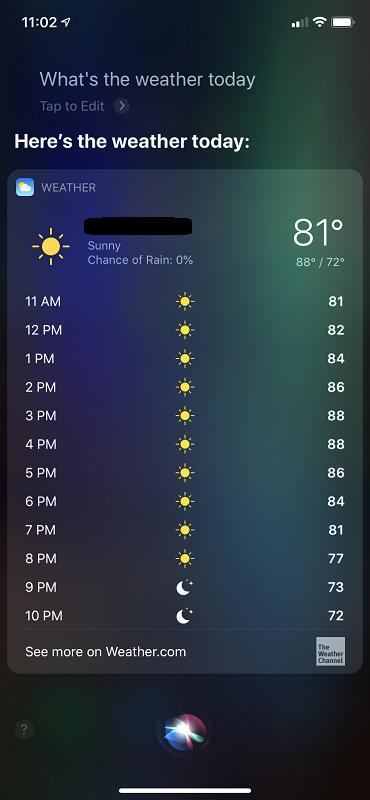 Siri Weather UI