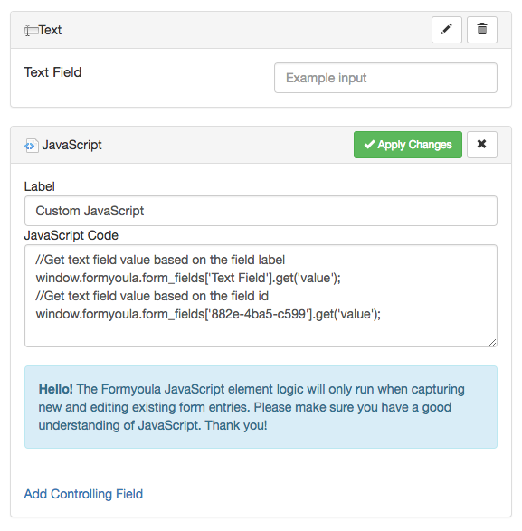 Get and Set Formyoula Field Values Using the Javascript
