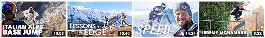 A screenshot of well titled thumbnails on YouTube.